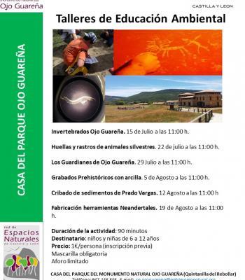 Talleres educación ambiental Casa del Parque Ojo Guareña.