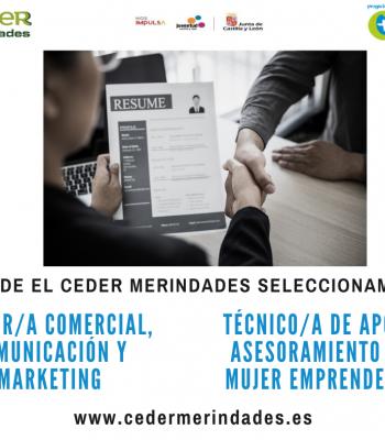 El CEDER Merindades oferta dos puestos de trabajo.
